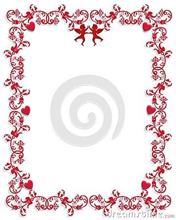 Free Valentines Day Hearts Border Stock Photos - 4125533