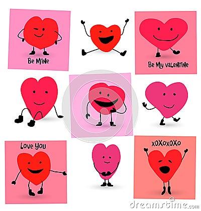 Free Valentines Day Hearts Cartoons Royalty Free Stock Photos - 47717098