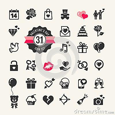 Free Valentines Day Icon Set Royalty Free Stock Image - 38388066