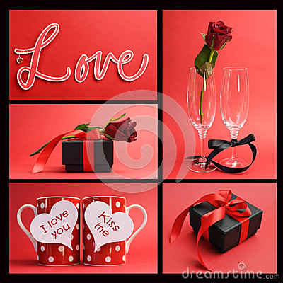 Free Valentines Day Or Love Theme Collage Stock Images - 40699094
