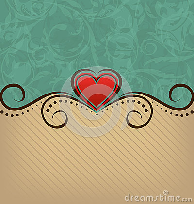 Valentines Day retro elegance background