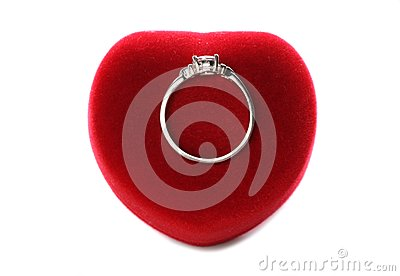 Valentines day ring with heart box