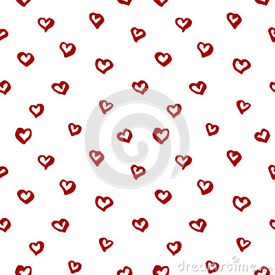 Valentines day seamless pattern Vector Illustration