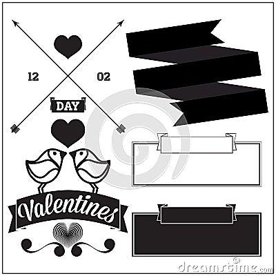 Valentines day. Set