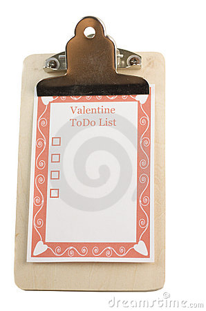 Valentines day todo list