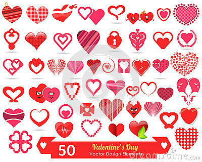 50 Valentines Day Vector Design Elements
