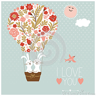 Valentines day or wedding card