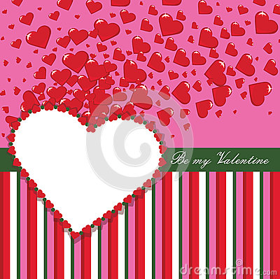 Free Valentines Design Template With Hearts And Strips Stock Images - 37420684