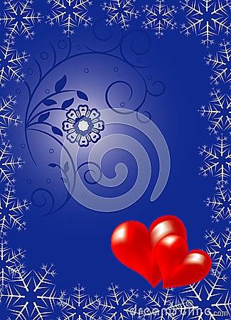 Valentines floral background