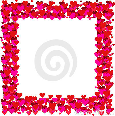 Valentines frame - vector