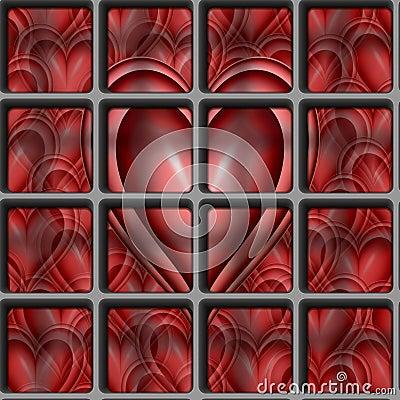 valentines Heart locked away