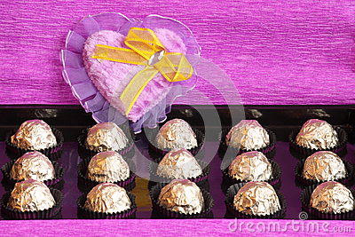 Valentines or Mothers Day Gift Box - Stock Photo