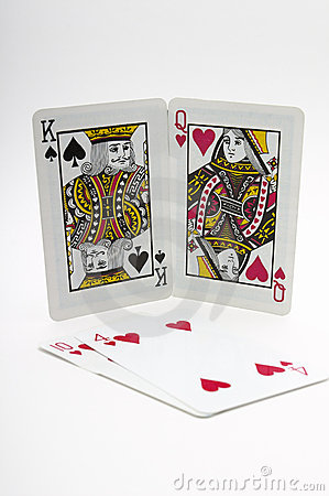 Free Valentines Playing Cards Stock Photography - 1873622