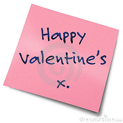 Valentines Post It Note