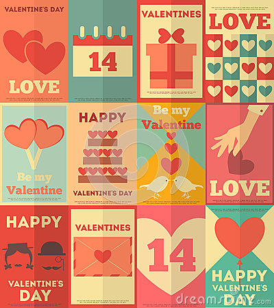 Valentines posters collection