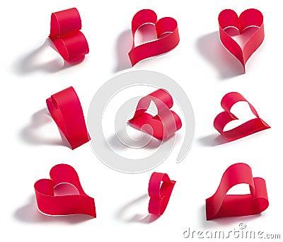 Valentines red heart