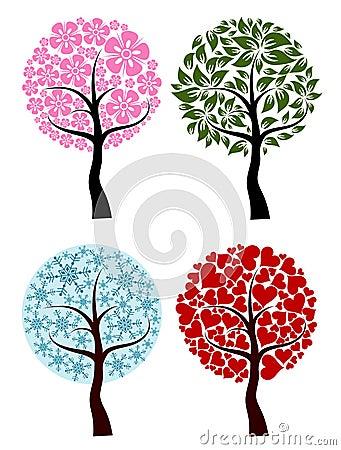 Valentines, spring, winter tree background,