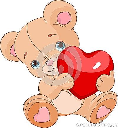 Free Valentines Teddy Bear Royalty Free Stock Photo - 36592005