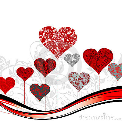 Valentines tree background,