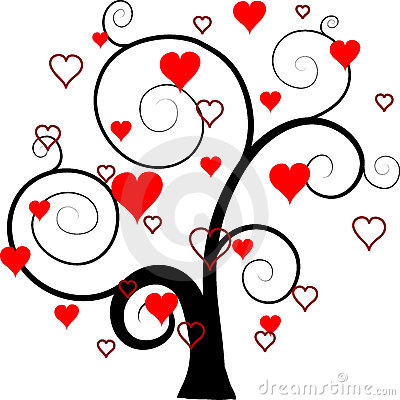 Valentines tree background,