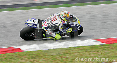 Valentino Rossi in action Editorial Stock Image