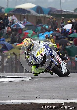 Valentino Rossi Donington MotoGP 2009 Editorial Stock Image