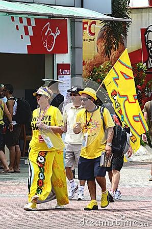 Valentino Rossi fan Editorial Image