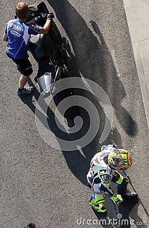 Valentino Rossi tested in Brno Editorial Stock Image
