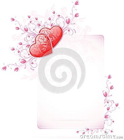 Valentinsgruß-Tageskarte mit Blumen