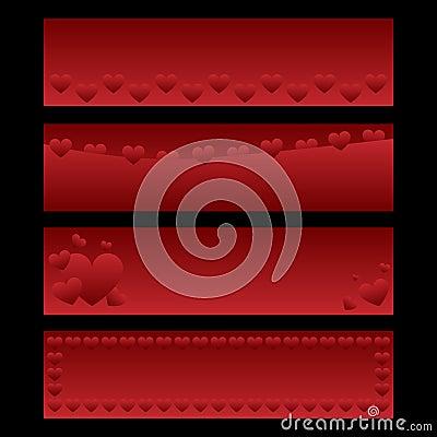 Valentinsgrußfahnen