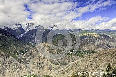Vales profundos da montanha