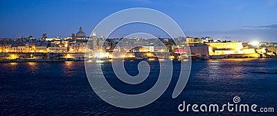 Valetta at night. Malta