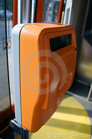 Free Validating Machine In Tram, Trolley, Streetcar Stock Images - 10252124