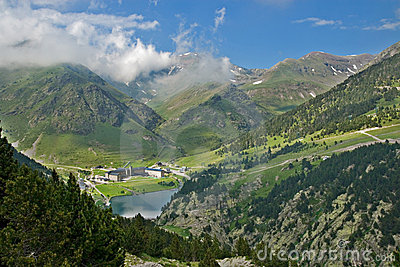Vall de Nuria Sanctuary, pyrenees, Spain