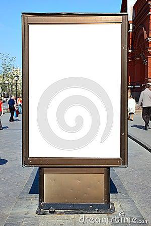 Valla publicitaria en blanco del anuncio imagenes de for Imagen de vallas
