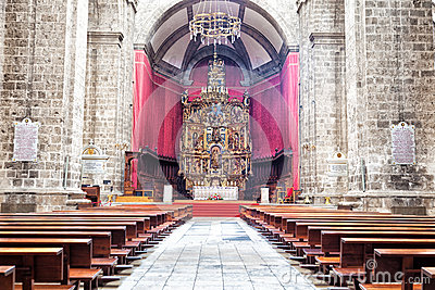 Valladolid cathedral interior