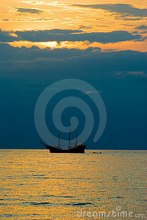 Vallarta захода солнца puerto