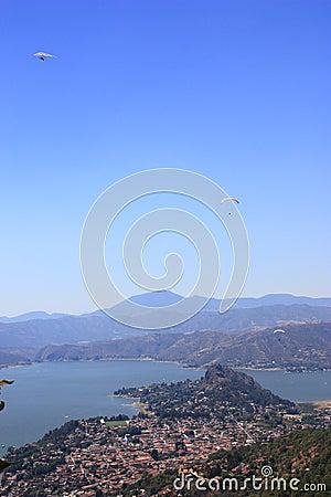 Valle de bravo aerial
