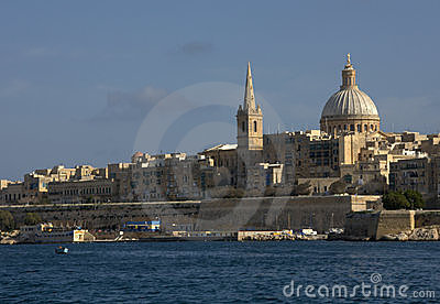 Valletta city skyline
