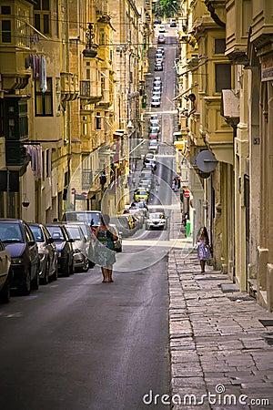 Valletta, Malta Editorial Stock Photo