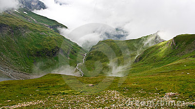 A valley in Austrian Alps