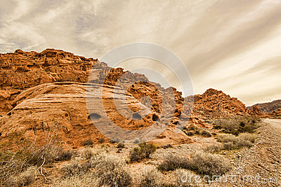 Valley Of Fire Rock Formation Stock Photo Image 49713863