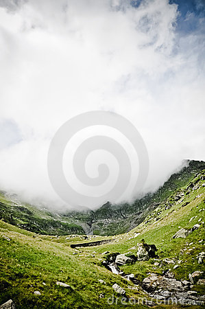 Valley with fog