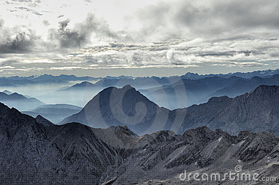 Valley fog from the Zugspitze 05