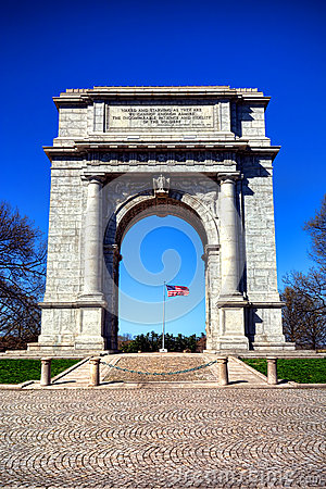 Valley Forge Park National Memorial Arch Monument Stock Photo Image 40408429
