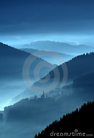 Valley in the mist