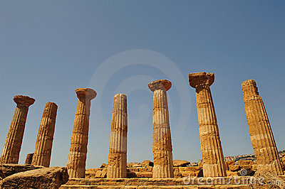 Valley of the temples in agrigento