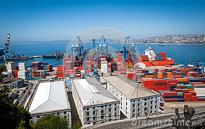 Valparaiso port activity