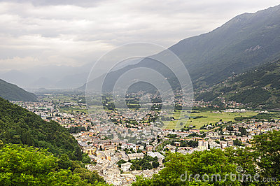 Valtellina, panoramic view
