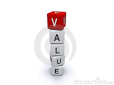 Value in letter blocks
